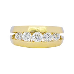 Jose Hess 0.91 Carat Diamond 14 Karat Gold Unisex Band Ring