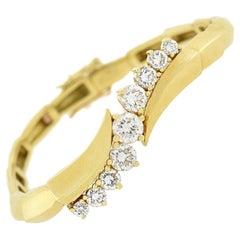 Jose Hess 18kt and 2.50ctw Diamond Articulated Link Bracelet