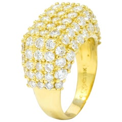 Jose Hess 4.55 Carat Diamond 18 Karat Gold Contemporary Statement Ring
