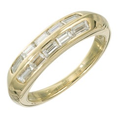 Jose Hess .75 Carat Diamond Yellow Gold Band Ring
