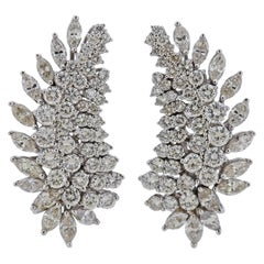 Jose Hess 8.40 Carat Diamond Gold Cocktail Earrings