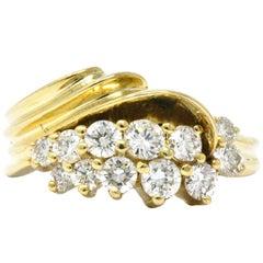 Jose Hess Contemporary 0.60 Carat Diamond 14 Karat Gold Ring