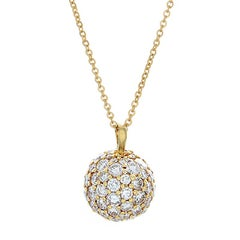 Jose Hess Diamond Gold Ball Pendant