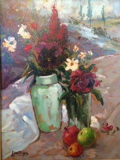 Small Still Life with Flowers and Apples