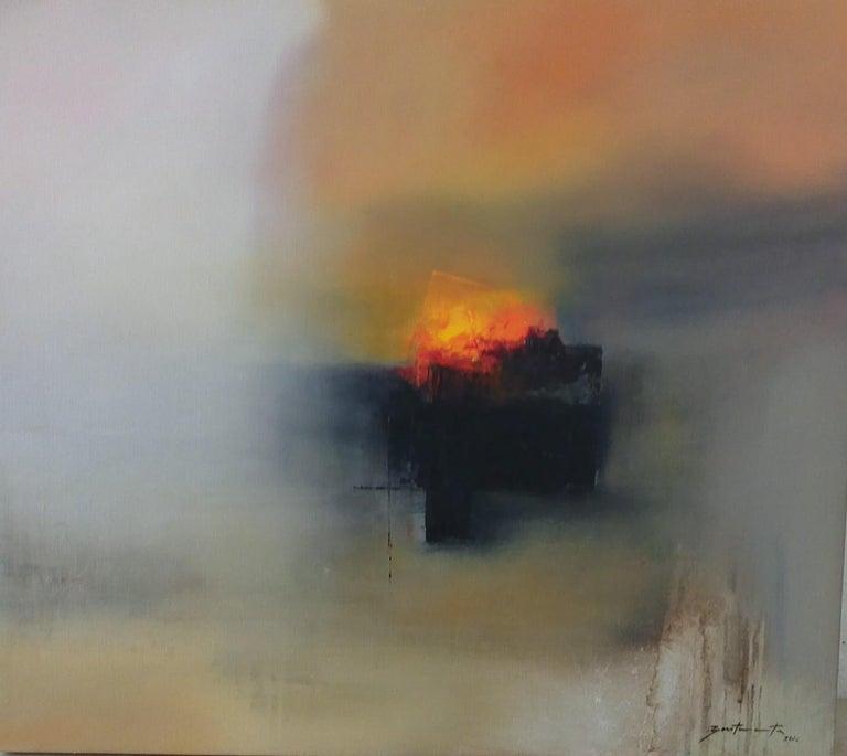 José Luis Bustamante Abstract Painting - Paisaje de los dioses del Sol/Landscapes of the Sun Gods VI