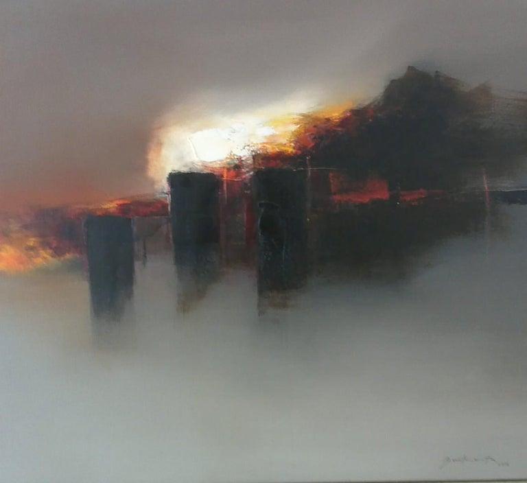 José Luis Bustamante Abstract Painting - Paisaje de los dioses del Sol/Landscapes of the Sun Gods XII