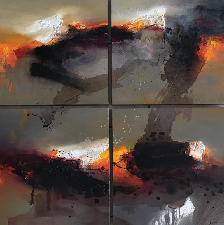 José Luis Bustamante Abstract Painting - Wind Ceremony 2017