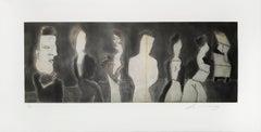 """""""Autorretrato con Las Berthas"""", José Luis Cuevas, Etching and Aquatint"""