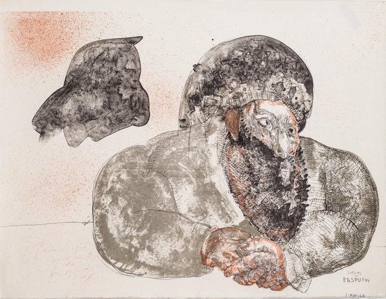 José Luis Cuevas Abstract Print - Dreams by Rasputin by Jose Luis Cuevas - original lithograph