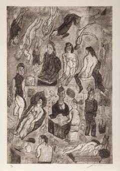 Las Victimas from the Intolerance Portfolio, 1989, by Jose Luis Cuevas