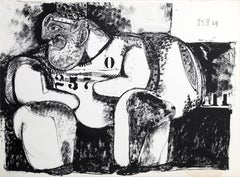 """""""Man in Jail"""" Lithograph by Cuevas"""