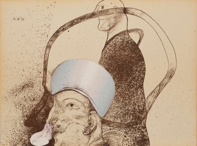 The Giants - Surrealist Print by José Luis Cuevas