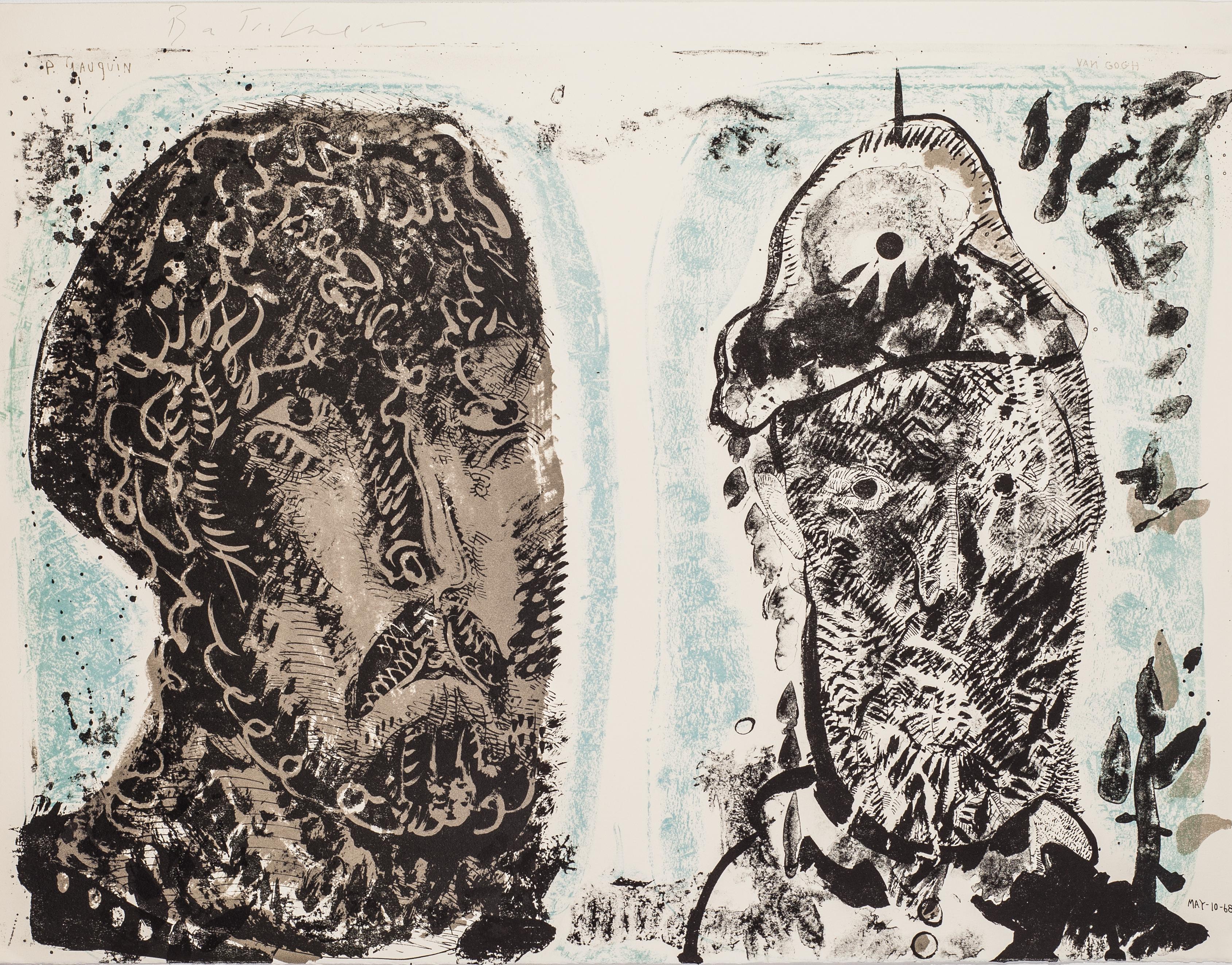 Van Gogh's Criminal Obsessions by Jose Luis Cuevas - original lithograph