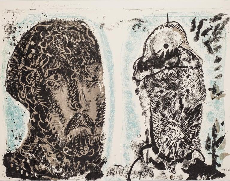 José Luis Cuevas Print - Van Gogh's Criminal Obsessions by Jose Luis Cuevas - original lithograph