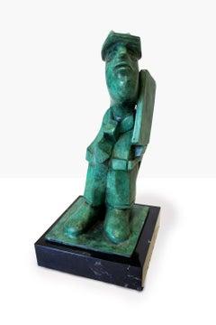 """""""Homenaje al Lápiz II"""", José Luis Cuevas, Bronze Sculpture"""