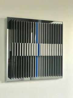 Dichotomic VI - kinetic wall sculpture by J. Margulis