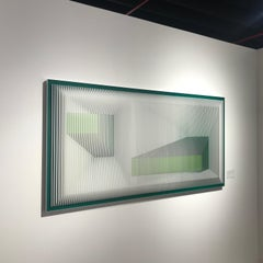 Displcased illusion 72 WG - Kinetic wall sculpture J. Margulis