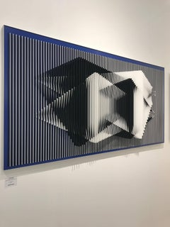 Dual Perspective - Geometric Abstract Kinetic Art by J. Margulis