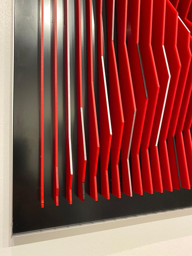 J. Margulis - Catalyst - kinetic wall sculpture  For Sale 2
