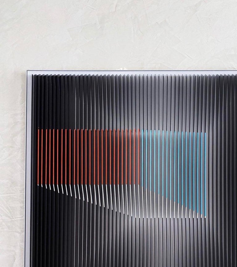 J. Margulis - Displaced Illusion IX - kinetic wall sculpture  - Contemporary Sculpture by Jose Margulis