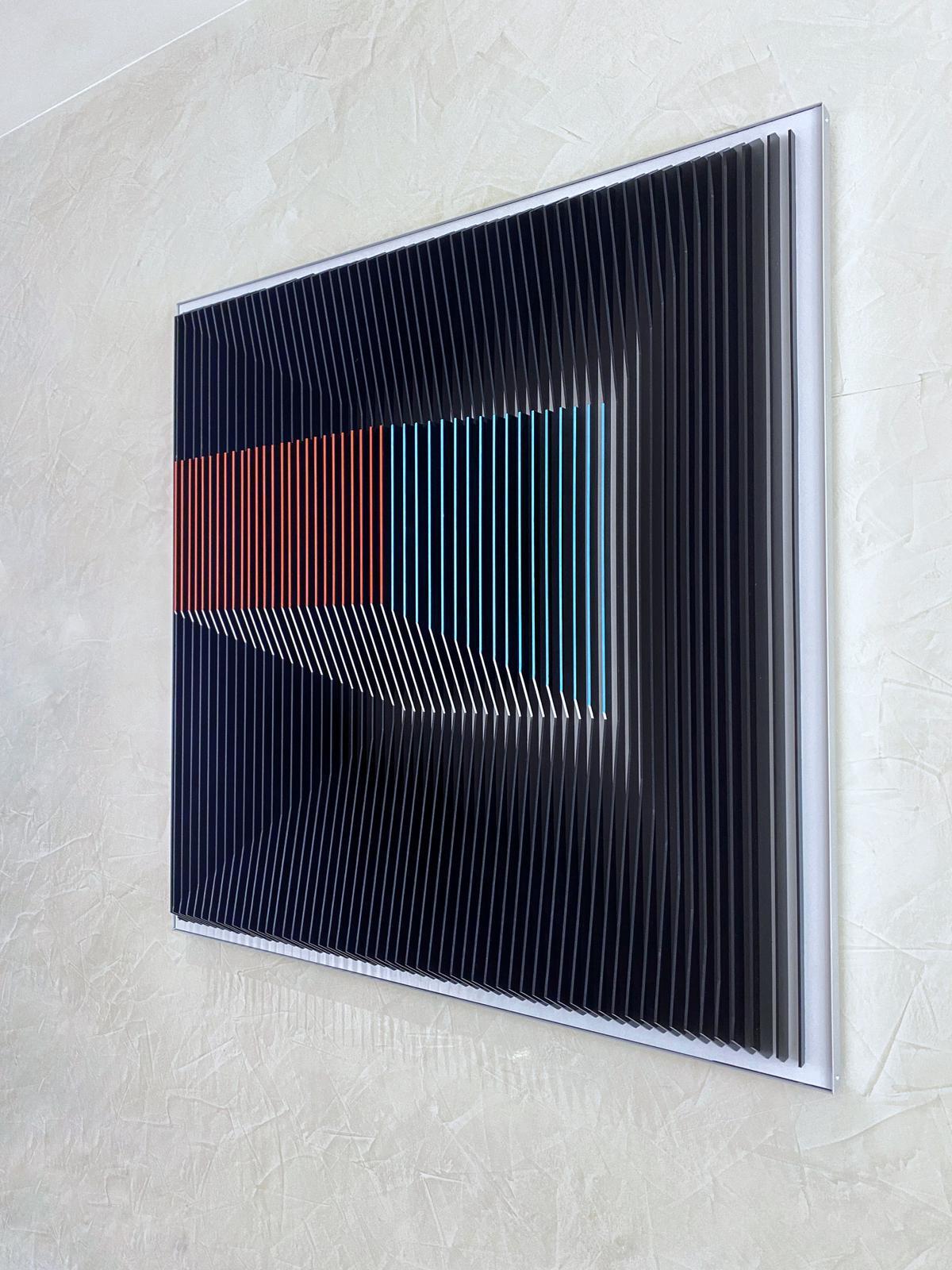 J. Margulis - Displaced Illusion IX - kinetic wall sculpture