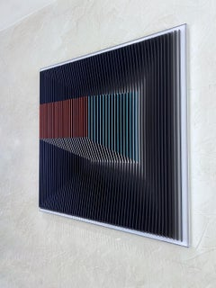 J. Margulis - Displaced Illusion IX - kinetic wall sculpture