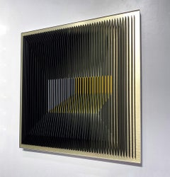 J. Margulis - Gold Illusion - kinetic wall sculpture
