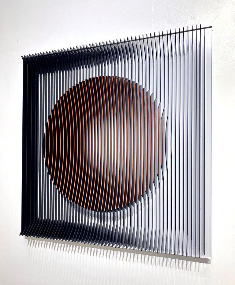 J. Margulis - Orange moon - kinetic wall sculpture  For Sale 1