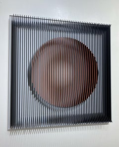 J. Margulis - Orange moon - kinetic wall sculpture