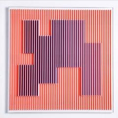 Orange Molecule 1  - Geometric Abstract Kinetic Art