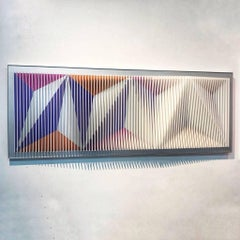 Ridge at dawn - Geometric Abstract Kinetic Art by J. Margulis