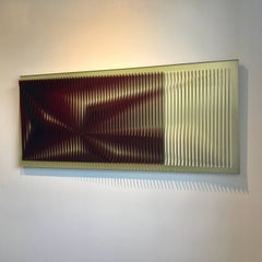 Wine deep - kinetic wall sculpture by J. Margulis