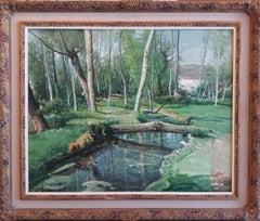 Arboles. original oil canvas painting