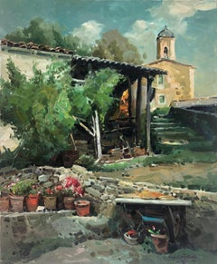 Mallol Spain landscape original oil on canvas painting