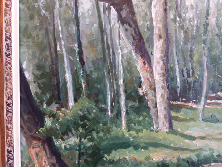 Arboles. original oil canvas painting Josep María Vilá Cañellas (Vic, Osona, 1914 - Barcelona, 2001). Painter and draftsman. He was a disciple of Juan Colom, Ivo Pascual and Emilio Bosch Roger. It began to participate in collective ones in 1932,
