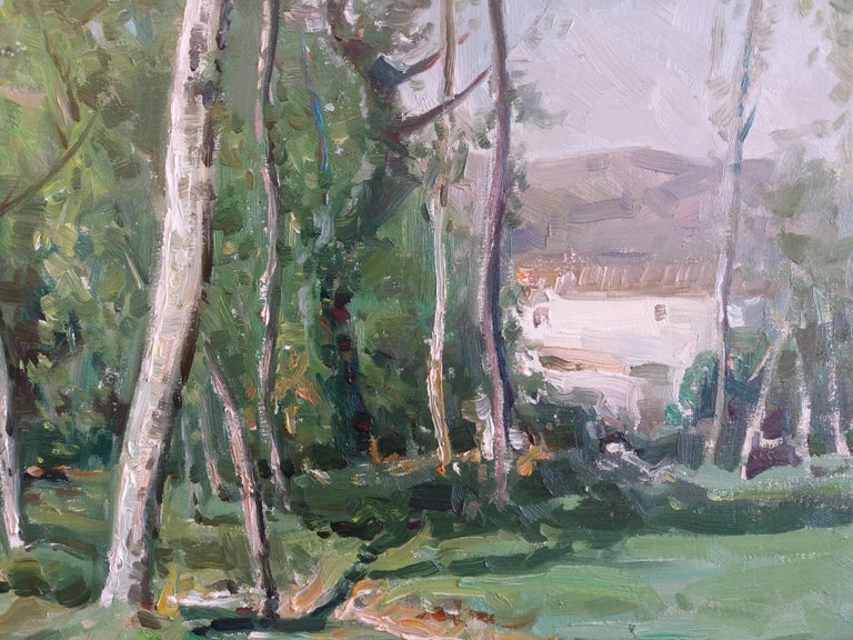 Olot. original oil canvas painting For Sale 1