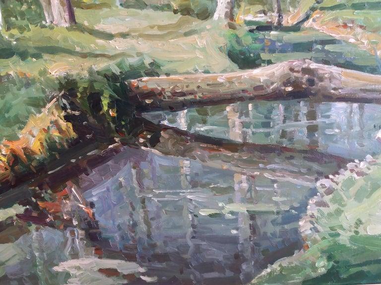 Olot. original oil canvas painting For Sale 2