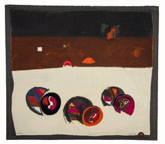 Composition - Original Etching by José Ortega - 1969