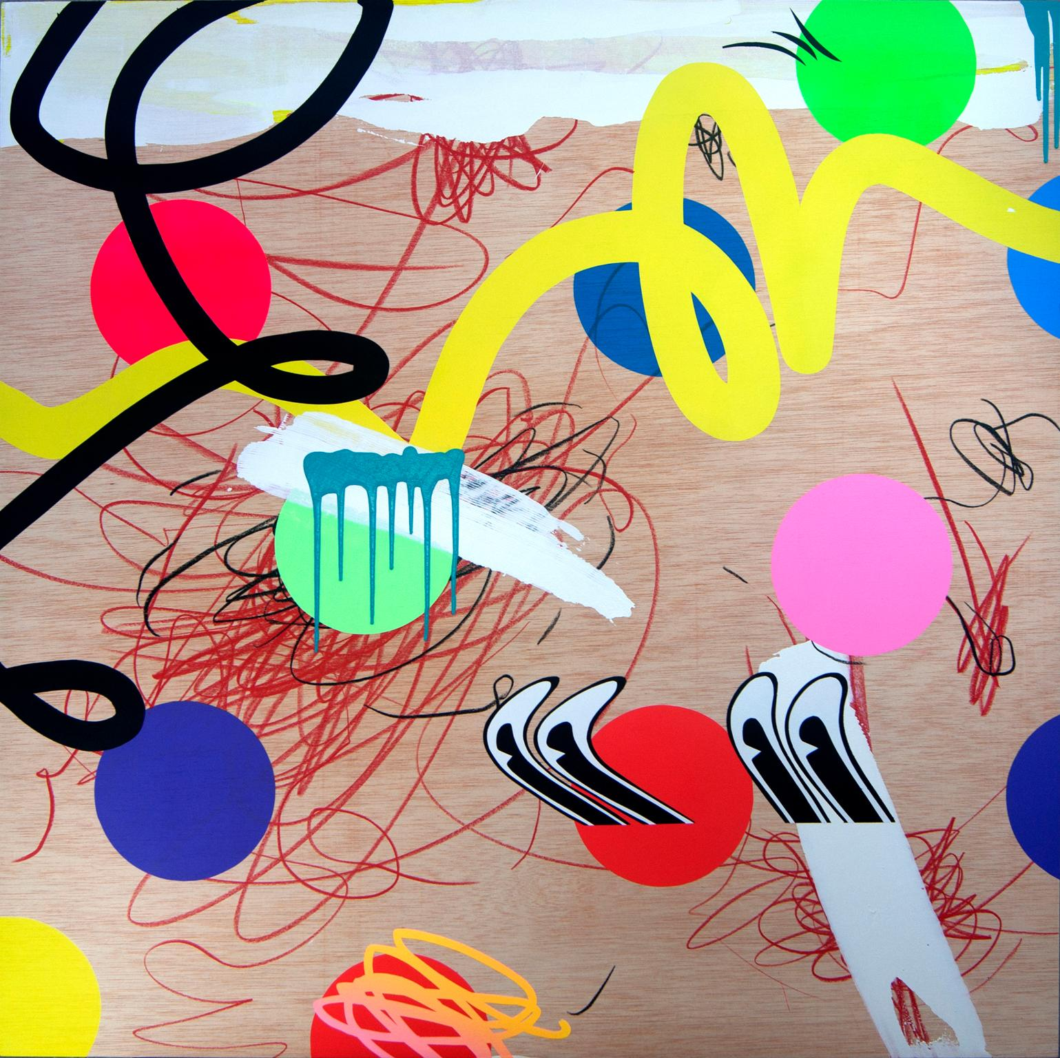 """Centinela"", Acrylic on Wood Panel by Contemporary Artist,  José Palacios, 2019"