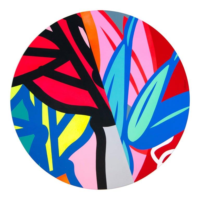Jose Palacios, Skylight 2, Mixed media on board, 2020 - Painting by Jose Palacios