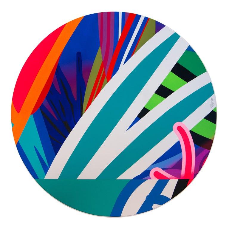 Jose Palacios, Skylight 4, Mixed media on board, 2020 - Mixed Media Art by Jose Palacios