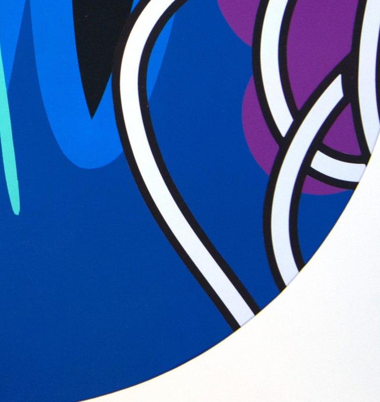 Jose Palacios, Skylight 6, Mixed media on board, 2020 - Blue Abstract Painting by Jose Palacios