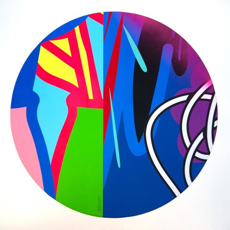 Jose Palacios, Skylight 6, Mixed media on board, 2020 - Painting by Jose Palacios