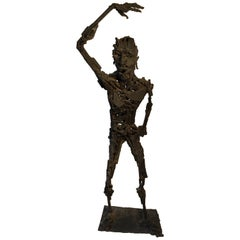Jose Ramon Rotellini Large Iron Sculpture of a Man