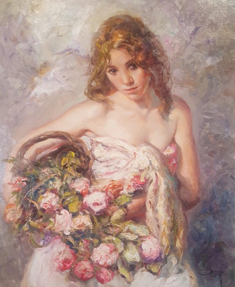 "José Royo Portrait Painting - ""Bella"""
