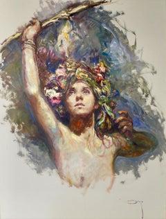 Sagitas I - José Royo Oil painting on art cardboard Impressionist