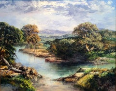 """Hill Country""  Texas  Most likely the Guadalupe River Palette Knife Painting"