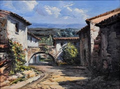 """La Calle Del Arco"" Catalonia Spain The Artist of ""Light"" Palette Knife"