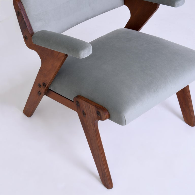 Mid-Century Modern José Zanine Caldas Midcentury Armchair, Brazil, 1950s For Sale