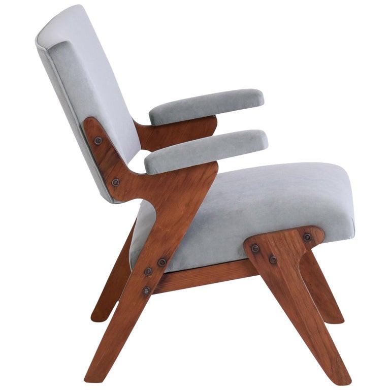 José Zanine Caldas Midcentury Armchair, Brazil, 1950s For Sale